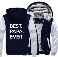 цена Best Papa Ever Funny Hoodies Mens 2019 Hot Winter Jacket Men Warm Fleece High Quality Sweatshirts Men Thicken Casual Men's Coat