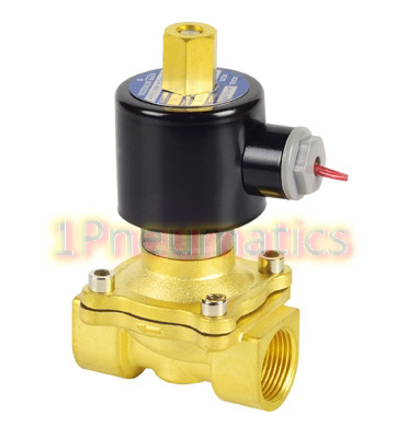 ФОТО Free Shipping 2W200-20-K 3/4'' Ports Normally Open Water Brass Solenoid Valve DC12V