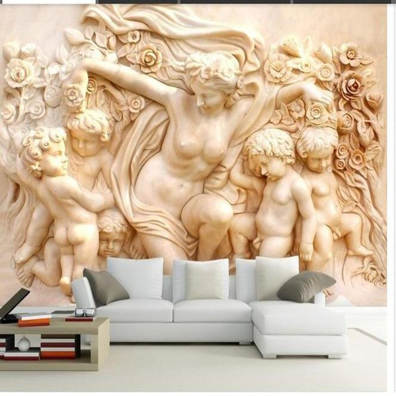 beibehang papel de parede,Custom photo wallpaper 3D stereoscopic house angel cupid 3D mural wallpaper TV wallpaper for walls 3 d beibehang custom marble pattern parquet papel de parede 3d photo mural wallpaper for walls 3 d living room bathroom wall paper