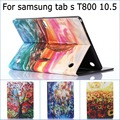 Free shipping Fashion Oil painting pattern Wallet PU Leather Protective Case Cover for Samsung Galaxy Tabs Tab S 10.5 T800 T805