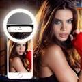 Universal Clip Selfie LED Ring Flash Fill Light Camera For Cell Phone iPhone Xiaomi redmi Huawei Samsung Meizu Lenovo Smartphone