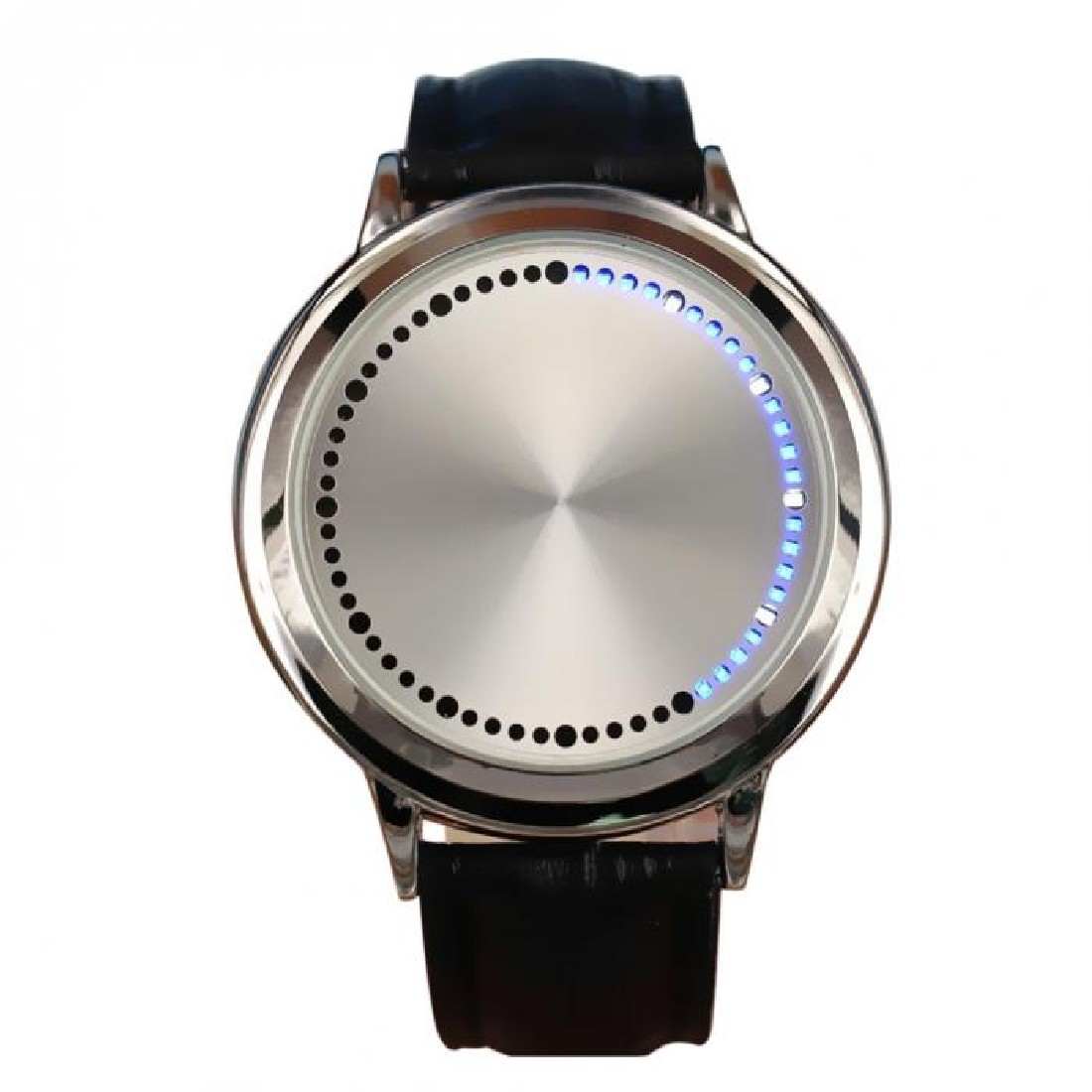 Fashion Contracted Waterproof Leather Band Touch Screen LED font b Smartwatch b font Lovers