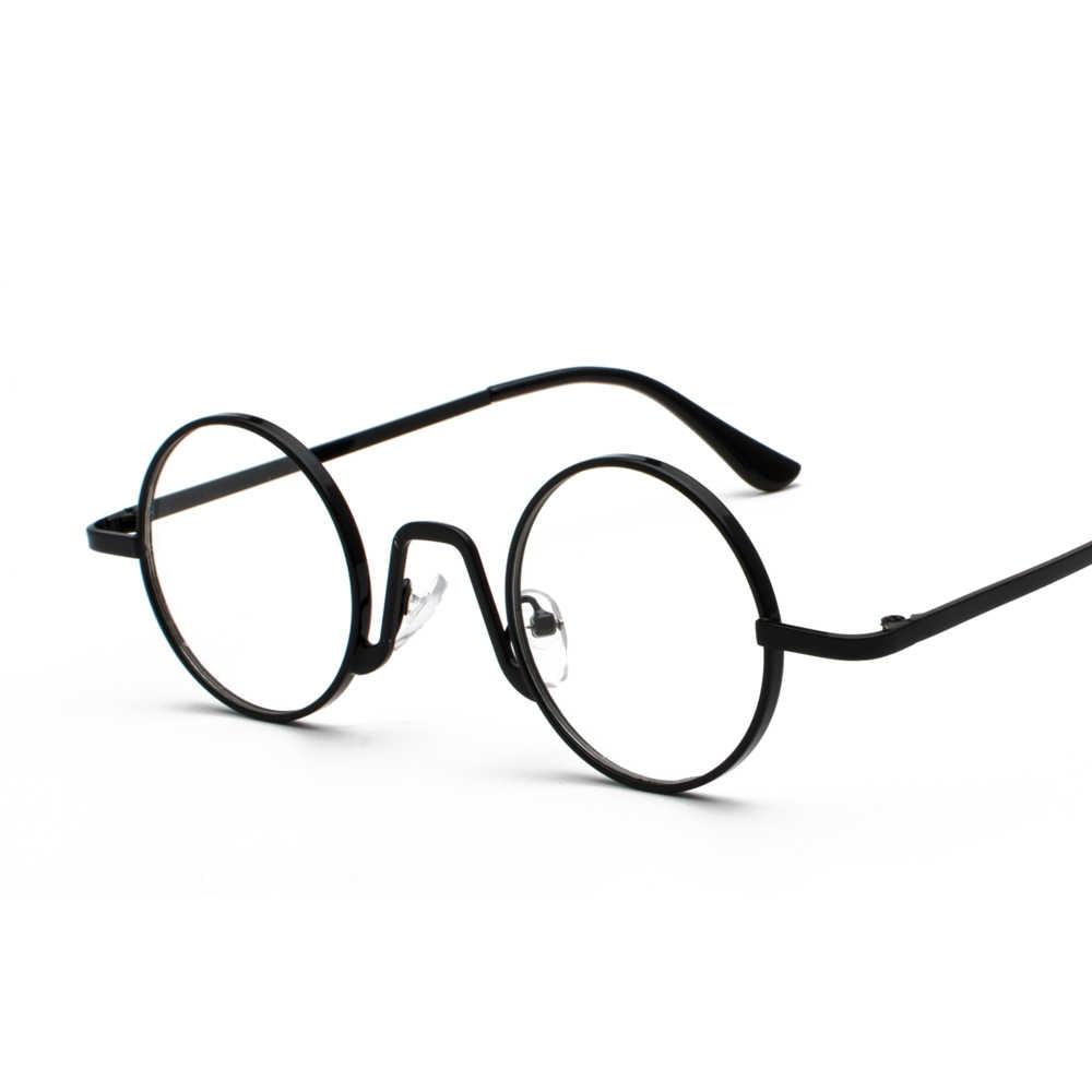 a72112a2547 ... Peekaboo woman small glasses frame men vintage 2019 gold retro round  circle metal frame eyeglasses decoration ...