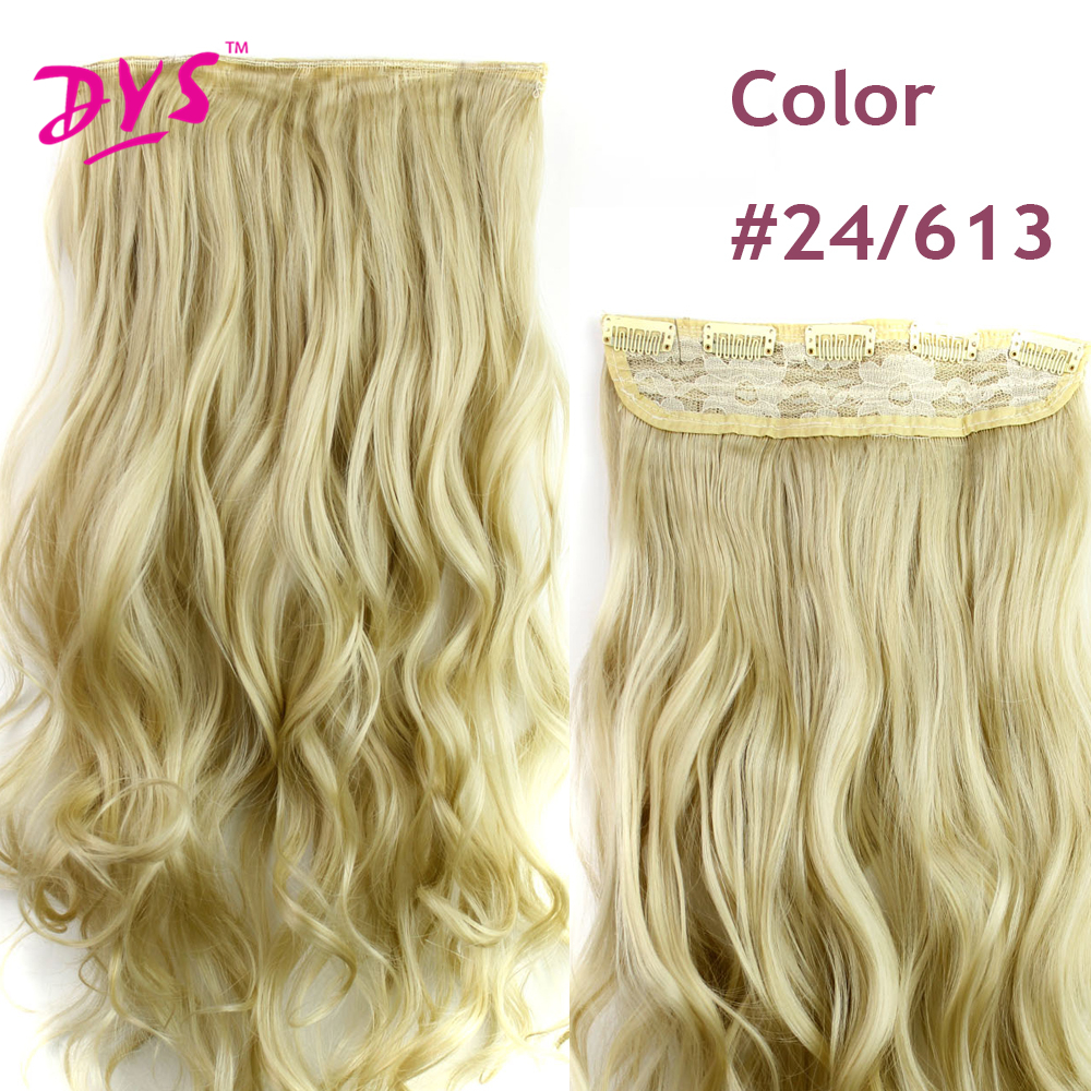 Deyngs 60CM One Piece 5 Clips in Hair Extensions For Women 34 Full Head Long Wavy16 Colors High Temperature Synthetic Fiber (1)
