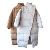 Толстое покрытие на пуговицах свободное теплое зимнее пальто для женщин с хлопковой подкладкой повседневное пальто негабаритная парка Femme ...