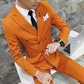 Перевозка груза падения 6 цвета мужской костюм Двойной грудью кнопки 3-х частей свадебное платье костюмы для мужчин случайные деловой костюм S-4XL