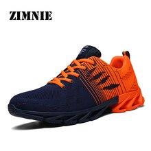 ZIMNIE ربيع الخريف حذاء رجالي الرجال لينة اللياقة البدنية الأحذية الذكور شبكة خارج الركض حذاء مسطح المنخفضة قطع الانزلاق على أحذية رياضية حجم 39 ~ 45