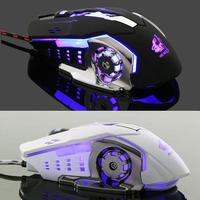 new arrival DSstyles 2019 New Arrival Ergonomic Pro Wired Mouse LED Light 4000DPI Optical USB Gamer Gaming Mouse Free Shipping (2)