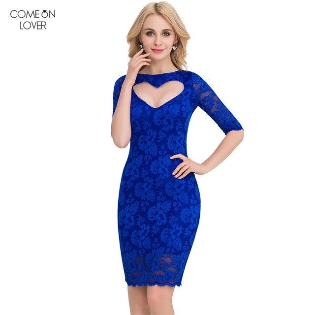 Comeonlover Speical Design Lace Vestidos Women Hollow Out Formal ...