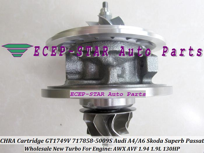 Turbo Cartridge CHRA Core GT1749 717858-0001 717858-0002 717858-0003 717858-0004 038145702N For Audi A4 A6 VW AWX AVF BLB 1.9L turbo chra cartridge core gt1749v 717858 5009s 717858 0005 717858 for audi a4 a6 for skoda superb for vw passat b6 awx avf 1 9l