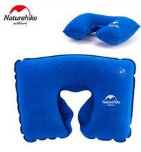 Naturehike U Shape Inflatable Neck Pillow Memory Massage Protect Headrest Car Flight Travel Soft Cushion Kits