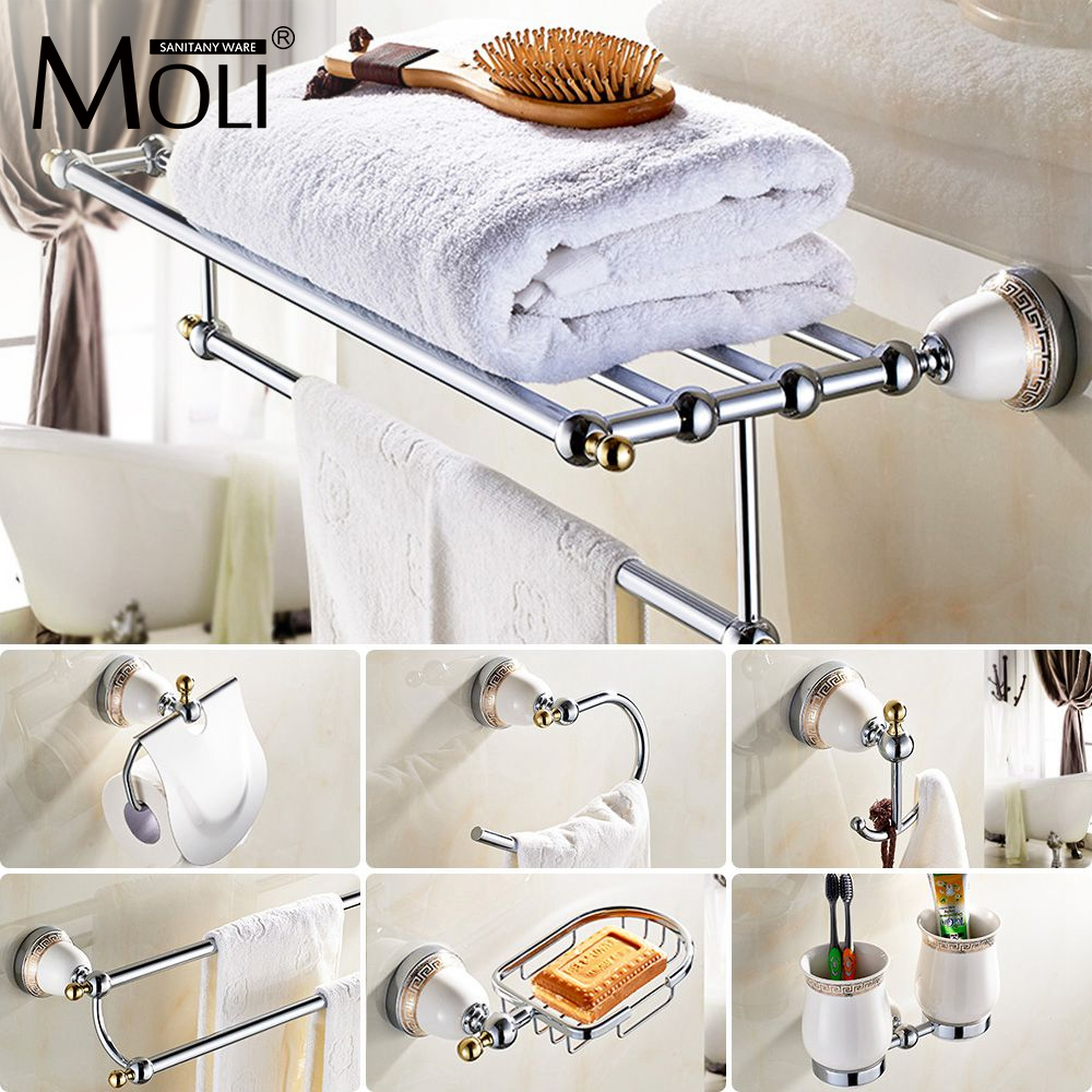 Chinese style Ceramic chrome Bath Hardware Bathroom Accessories Set ...
