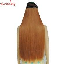 Wjz12070/27S 1p Xi.rocks парик Синтетический зажим для наращивания волос Длина прямые заколки для волос матовое волокно Имбирные парики