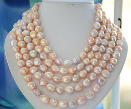 10x10 bijoux livraison gratuite natural12-13mm mer du sud multicolore or rose collier de perles 80 inch