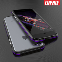 Luphie Luxury Ultra Thin Slim Aluminum Metal Bumper For Iphone 7 Button Cover Shockproof Rugged Holster