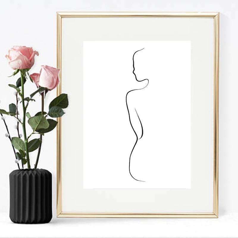 Woman Body Print Home Decor