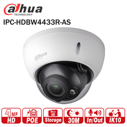 Dahua 4MP CCTV IP Camera IPC-HDBW4433R-AS Support IK10 IP67 Audio&Alarm Port PoE Camera IR Range 30m HDBW4433R-AS CCTV Security