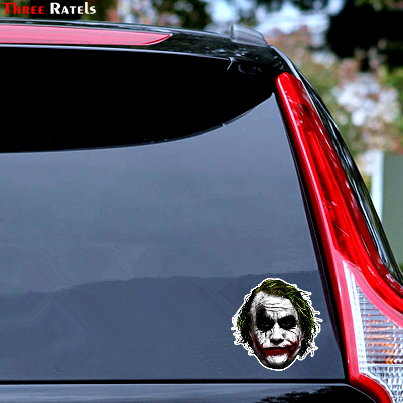 Image 5 - Three Ratels TRL744# 10.4x14.2cm joker why so serious funny car stickers car stickers and decals-in Car Stickers from Automobiles & Motorcycles