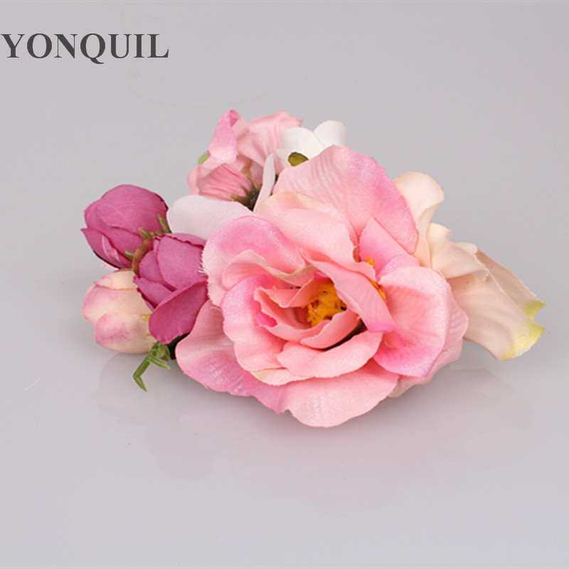 New artificial silk flower with hair clips heads decoration for new artificial silk flower with hair clips heads decoration for fascinator hats millinery accessory party banquet decor flowers in artificial dried mightylinksfo Gallery