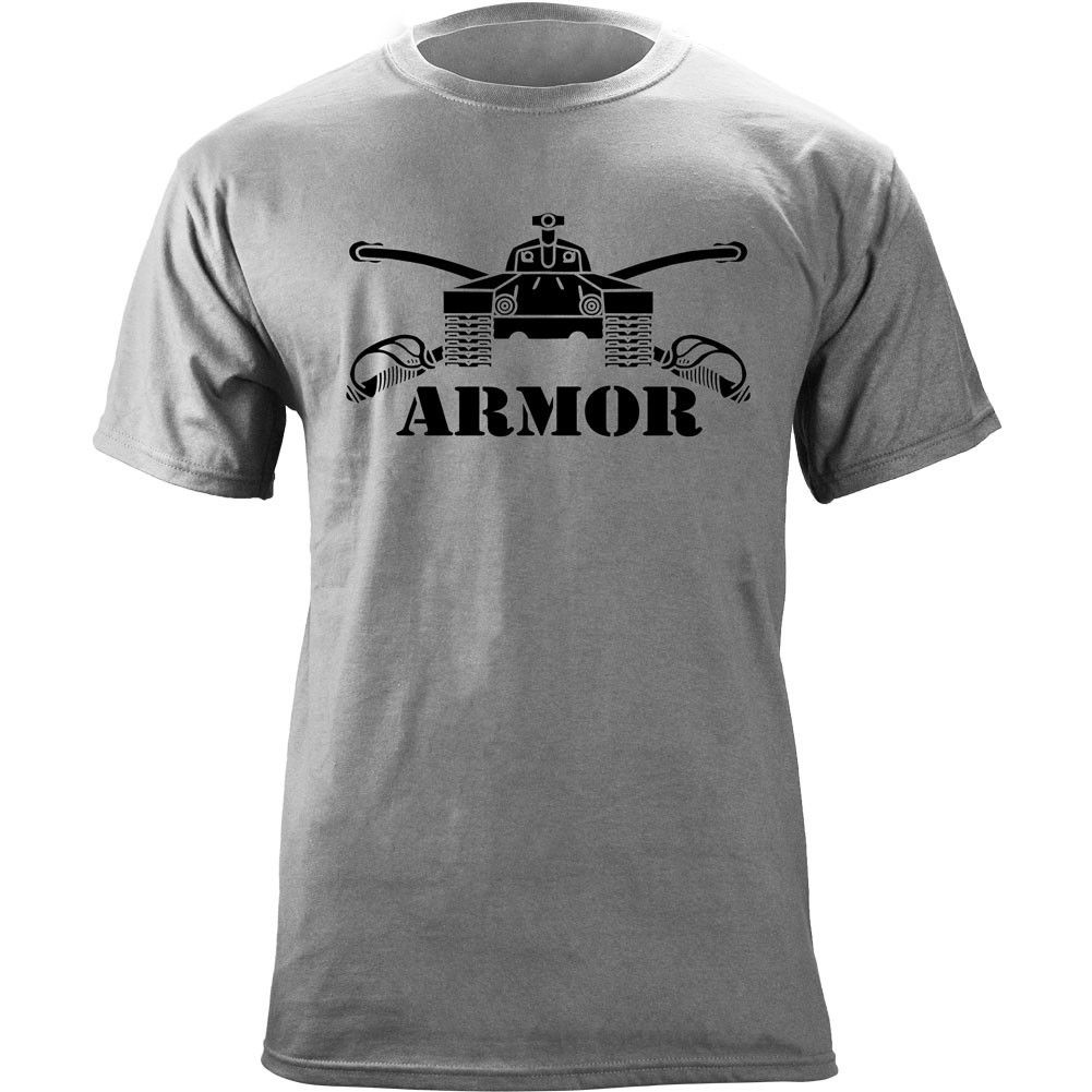 US Army Armor Branch Insignia Crossed Sabers Veteran Graphic T-Shirt 2019 hot tees Cheap wholesale tees summer o neck tee