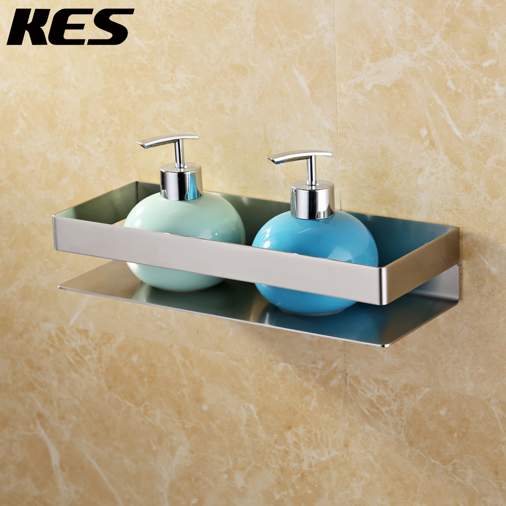 Bathroom Shelf Stainless Steel 304 Bath Shower Shelf Basket Caddy with Robe Hook