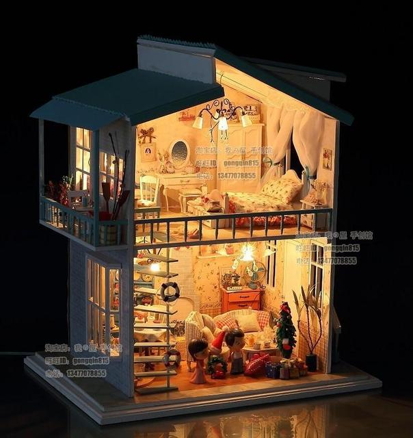 Diy Led Light Cradle On The Beach Deluxe House Dollhouse And