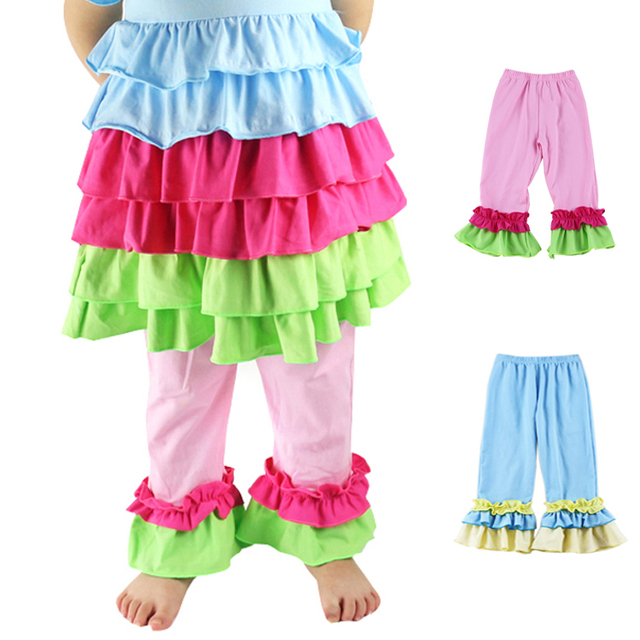 7c420aa74 Top Fashion Roupas Infantis Menina Free Shipping Retail Girl Legging Girls  Ruffle-pants Cotton Kids Baby Pants Leggings For