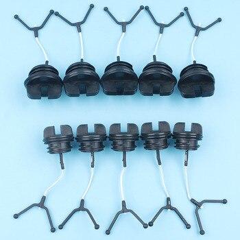 5 X Kit de tapa de tanque de aceite y combustible para HUSQVARNA 36 41 51 55 254 257 136 137 141 142 repuestos de motosierra nuevos