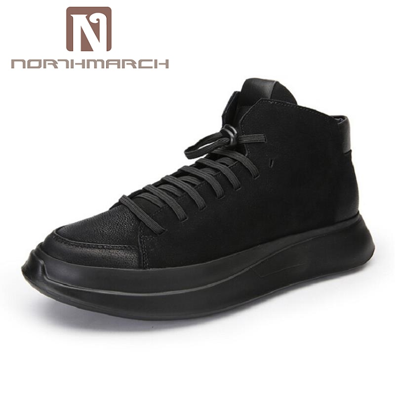 NORTHMARCH Lightweight Black Casual Shoes Men Comfot Lace-Up New Arrival High Top Man Outdoor Shoes scarpe uomo di marca top 10 viaggio di nozze