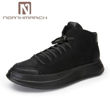 NORTHMARCH Lightweight Black Casual Shoes Men Comfot Lace-Up New Arrival High Top Man Outdoor Shoes scarpe uomo di marca