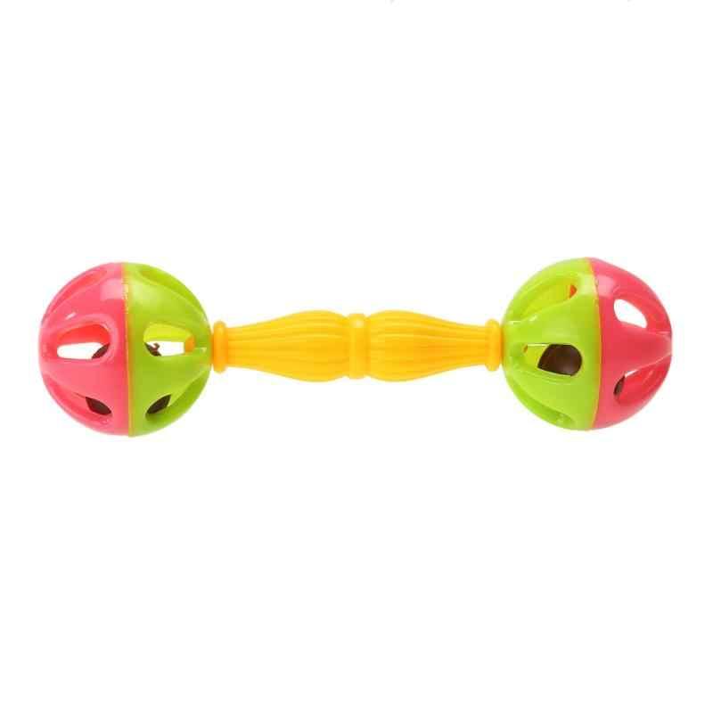 Bebek oyuncakları çıngıraklar sallayarak dambıl plastik el çan erken gelişim bebek oyuncakları 0-12 ay bebek müzikal el sallayarak çıngıraklı oyuncak