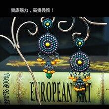 FARLENA Jewelry Hand Beaded Tassel Drop Earrings Vintage Bohemian Ethnic Style Long Earrings for Women bohemian beaded tassel drop earrings