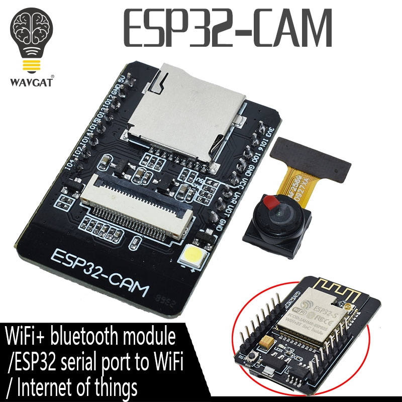 ESP32-CAM ESP-32S WiFi Module ESP32 Serial To WiFi ESP32 CAM Development Board 5V Bluetooth With OV2640 Camera Module(China)