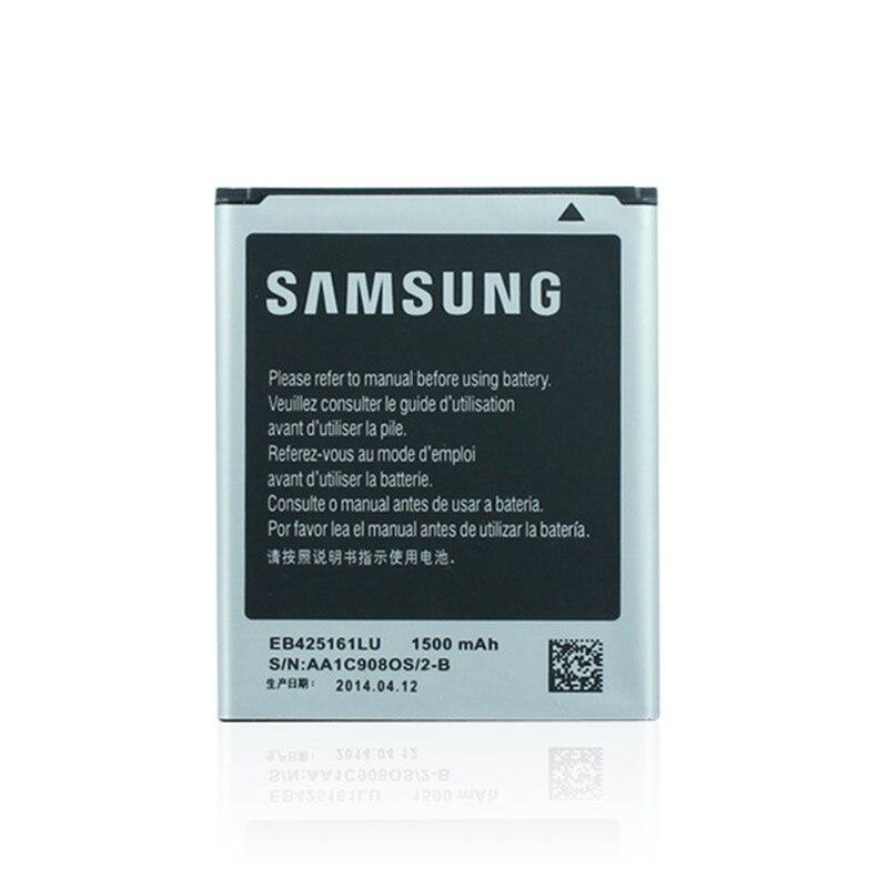 imágenes para 1/lot batería eb425161lu accesorios del teléfono móvil para samsung galaxy s3 mini i8190n i8190 i8160 galaxy ace 2 s tendencia duos S7562