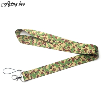 Flyingbee Camouflage Lanyards For keychain ID Card Pass Gym Mobile Phone USB Badge Holder Hang Rope Lariat Lanyard X0075 flyingbee love story lanyards for keys id card pass gym mobile phone usb badge holder hang rope lariat lanyard x0079