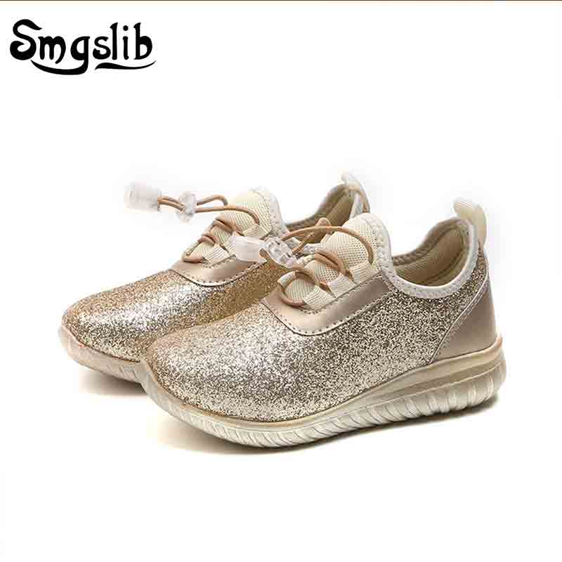 girls shoes 2018 spring autumn kids sneaker children running glitter casual shoes sports leather shoes princess trainer shoes kids sneaker girls dance shoes pu baby princess flat flowers single shoes spring summer autumn children student leather shoes
