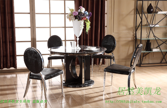 Luxury And Upscale Living Room Furniture Marble Round Dining Table In Foshan Guangdong Louvre