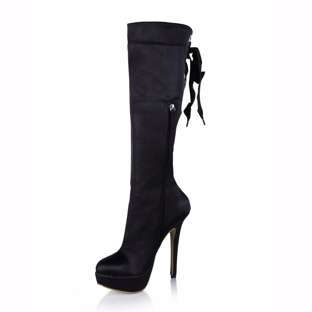 CHMILE CHAU Fashion Knee High Boot Women Platform Stiletto High Heel Rodilla Botas Zapatos Mujer Plataforma Tacon Alto 3463BT X1 in Knee High Boots from Shoes