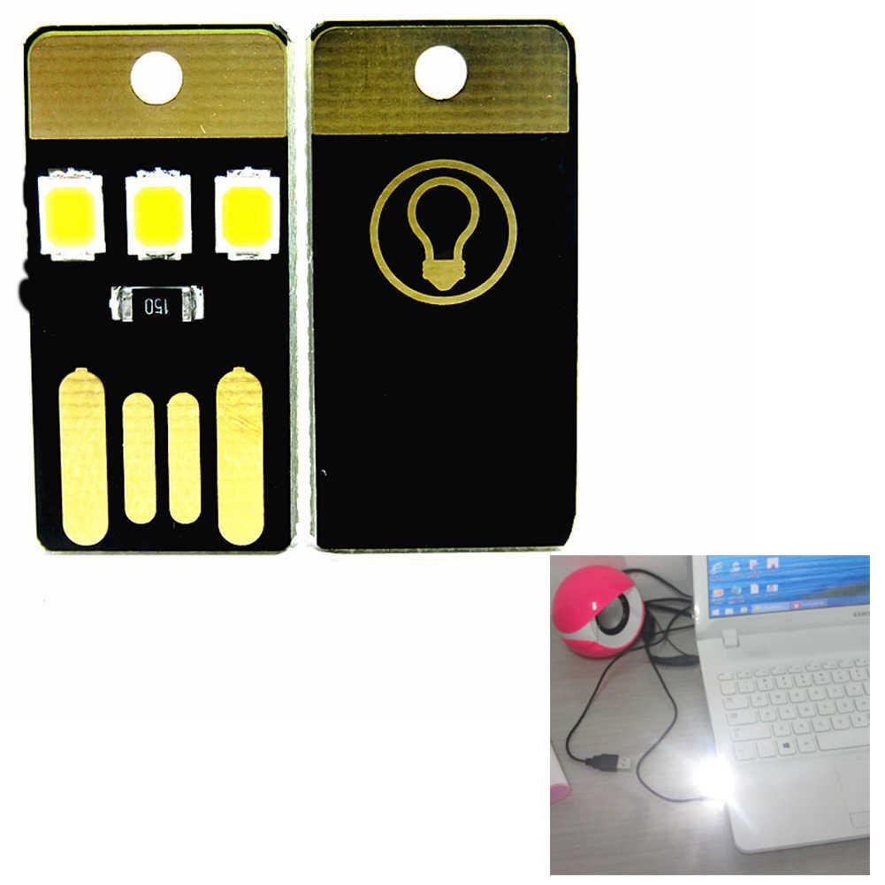 1Pcs LED כרטיס כיס אור ארנק אור USB מנורת עבור מחשב נייד כוח בנק