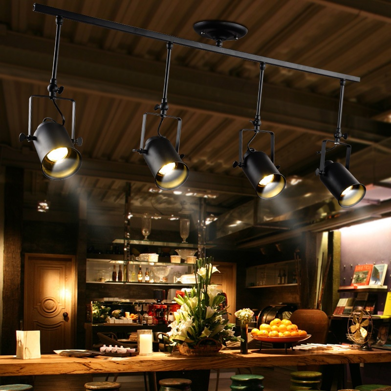 Track Lighting Living Room: 1/2/3/4 Heads American Track Lights Modern Minimalist