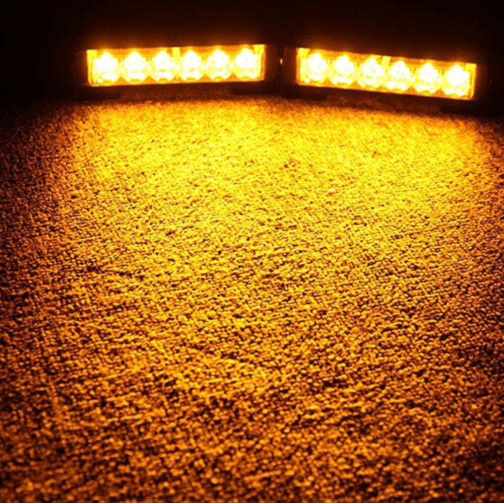 ФОТО Car Truck 2 x6LED Strobe Light Hazard Emergency Beacon Grille Auto Warning Lamp Amber