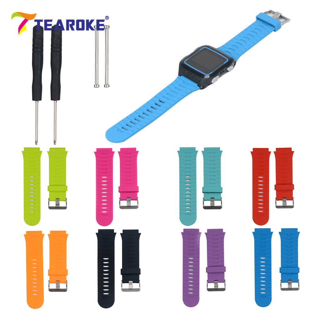 TEAROKE 8 Colors Silicone Soft Watchband for Garmin Forerunner 920XT + Tools Sport Fashion Replacement Bracelet Watch Band Strap стоимость