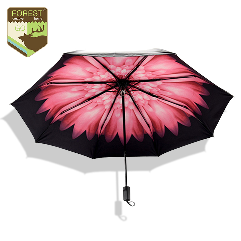 creative red flower umbrella rain women fashion anti uv. Black Bedroom Furniture Sets. Home Design Ideas