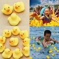 Rubber Duck Детские Скрипучий Бассейн Плавать Для Детей Латекс Желтая Утка Сожмите звучащие Dabbling Воды Ванна ванна Игрушка