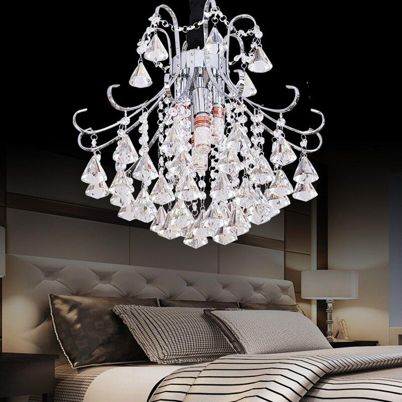 European Crystal Restaurant Chandelier Gold Living Room Lights LED Bedroom Staircase Entrance Aisle