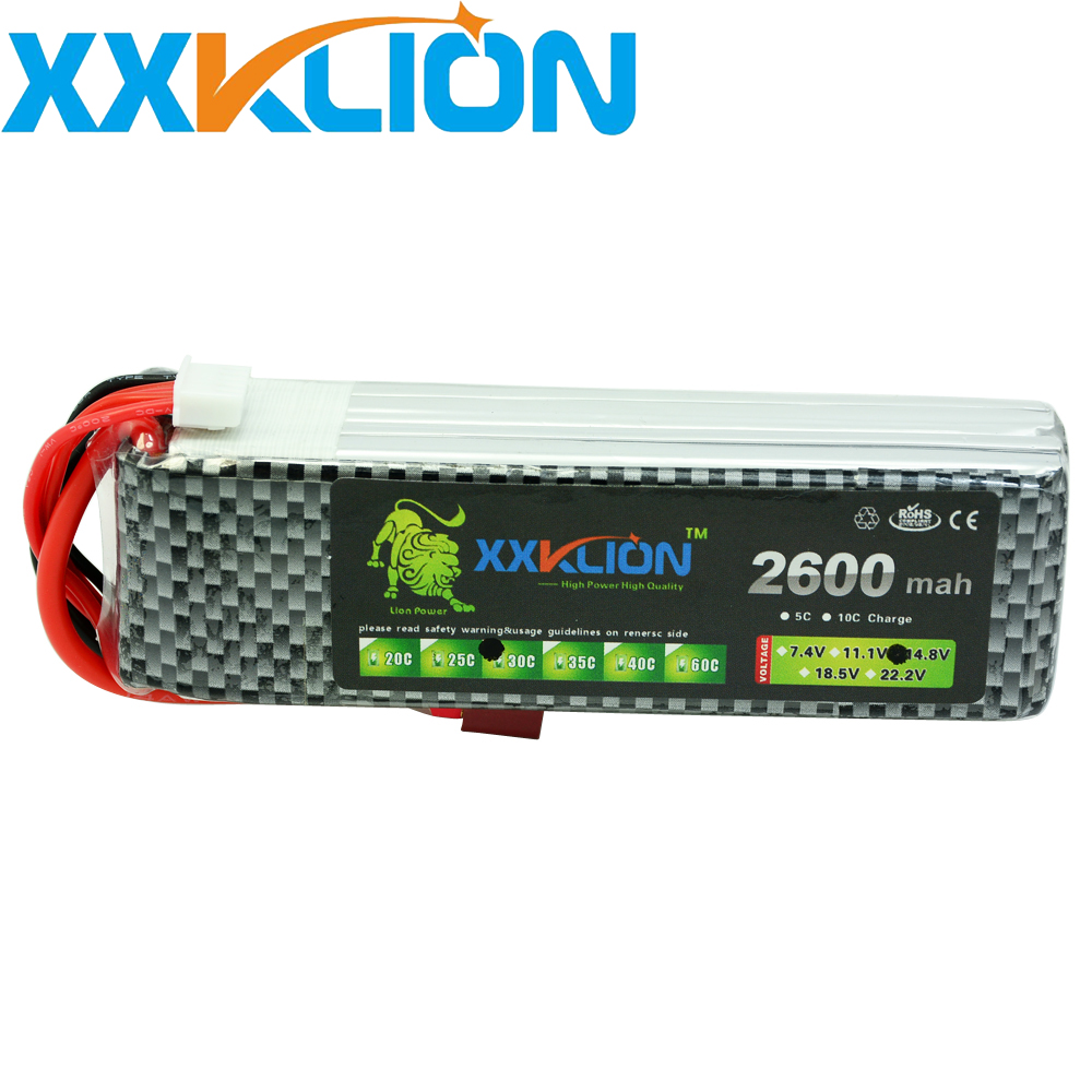 XXKLION RC drone Lipo battery pack 4s 14.8v 2600mAh 30C For RC airplane Four axis for car charg eable batteries free shipping