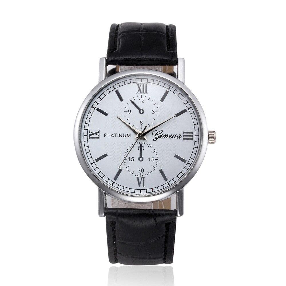 man watch 2019 Geneva Luxury Brand Mens Watches Stainless Steel Analog Quartz Ladies Wristwatches Clock Women's Watch montre