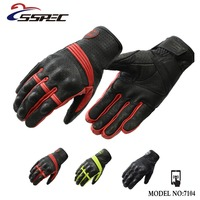 SSPEC Full Finger Motorcycle Gloves Motocross Luvas Guantes Black Green Moto Protective Gears Glove For Men