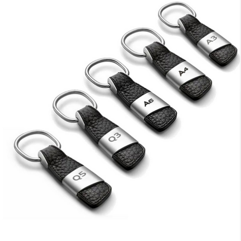 Sline Metal Stainlees Steel Car Keychain Key Ring for Audi A4L A6L Q3 Q5 Q7 New