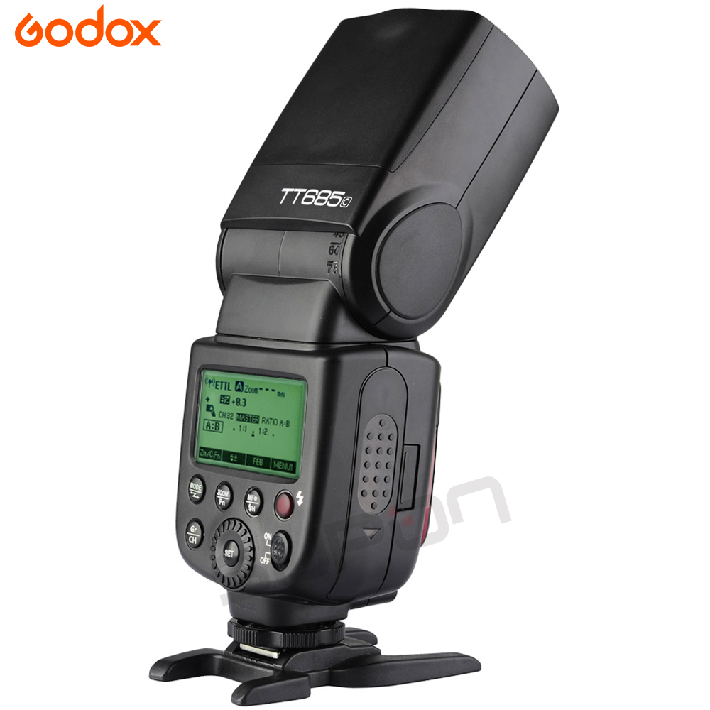 2x Godox TT685C High-Speed Sync External TTL Speedlite Flash For Canon 1100D 1000D 7D + X1T- C + 15*17cm softbox + Color filters